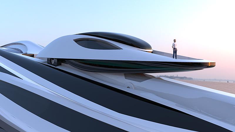 Avanguardia yacht concept crane