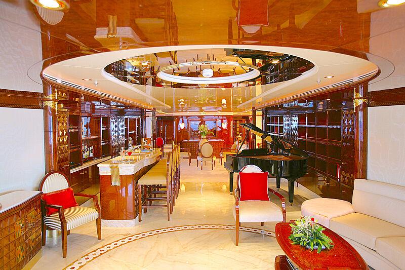 Ambrosia yacht saloon