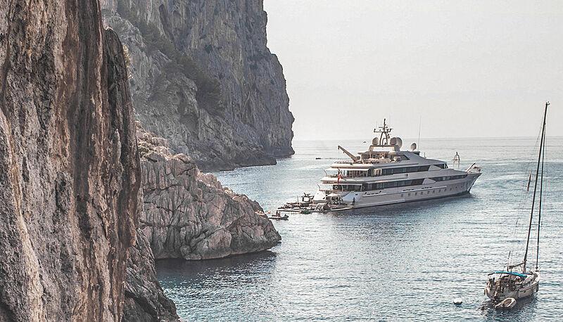 Yasmine of the Sea yacht by Oceanco in Escorca, Spain