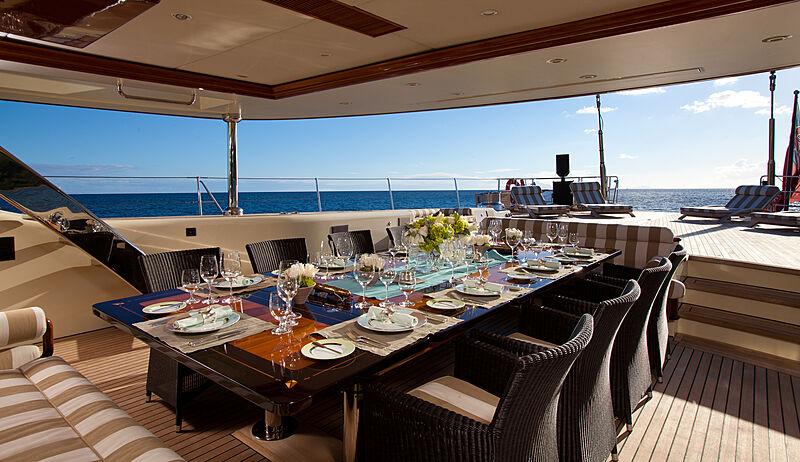 Tiara yacht deck