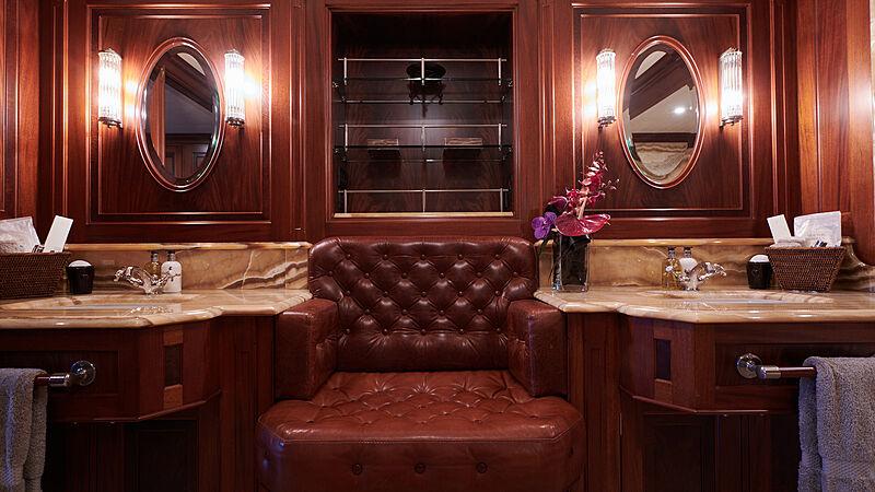 Tiara yacht bathroom
