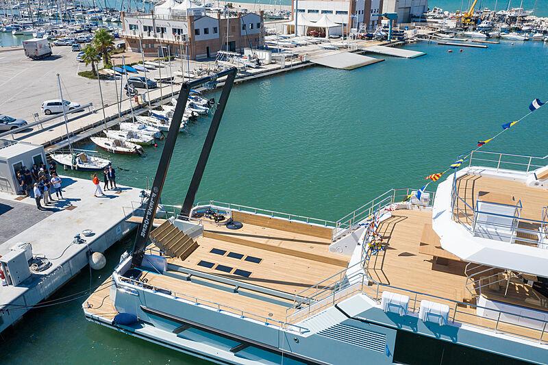 Aurelia yacht launch in Ancona