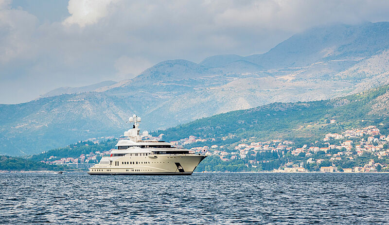 Pelorus yacht by Lürssen in Cavtat, Croatia