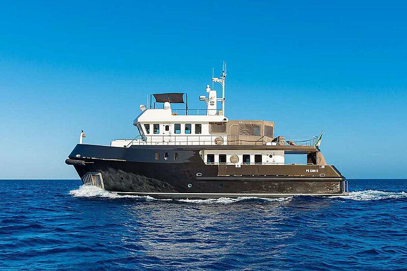 Indian yacht cruising