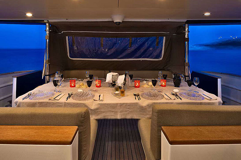 Indian yacht deck