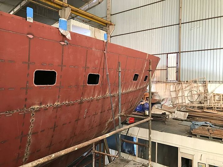 MiTi One yacht in build in Bodrum