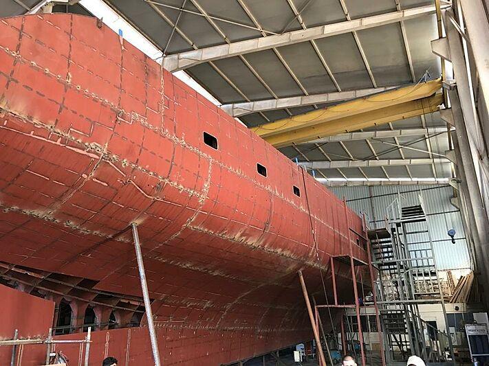 MiTi One yacht in build in Bodrum