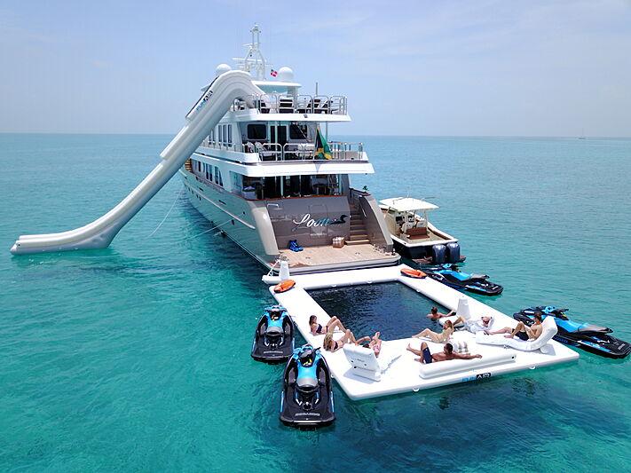 Loon yacht at anchor
