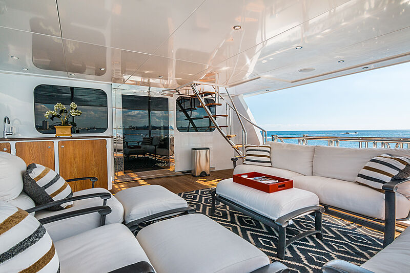 Loon yacht aft deck