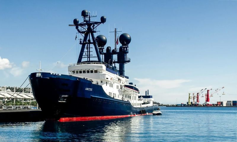 The 88m luxury explorer Arctic P in Papeete