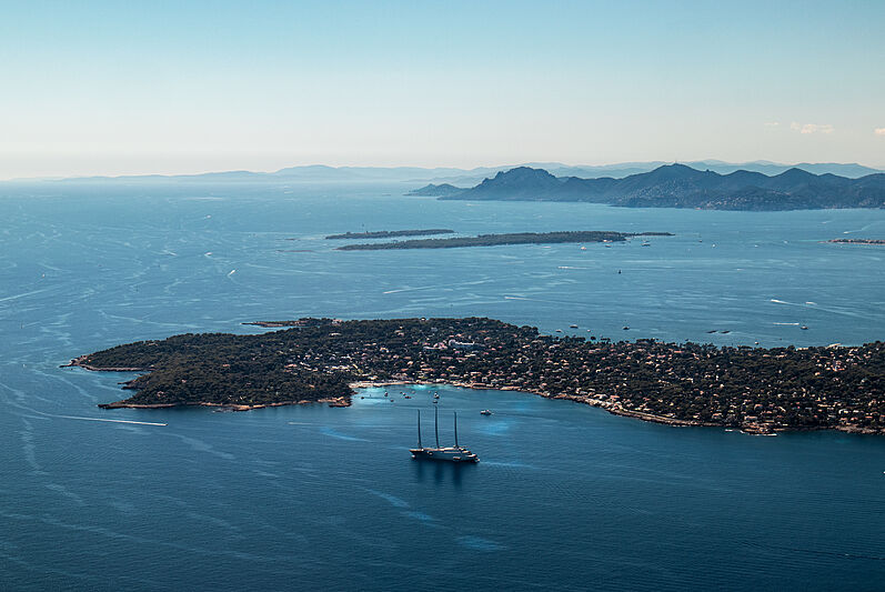 Sailing yacht A by Nobiskrug in Cap d'Antibes