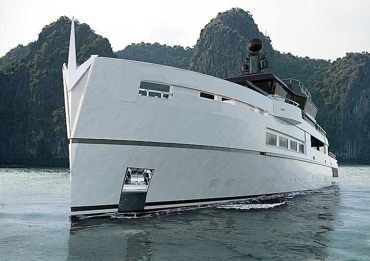 Rendu du projet de yacht Antonini UP40