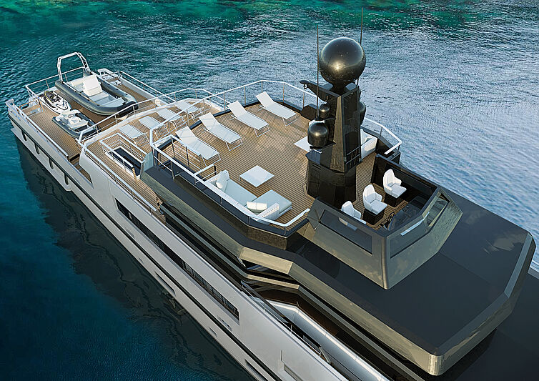 Antonini UP40 yacht project rendering