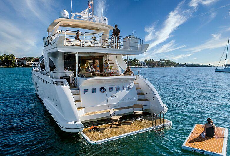Phoenix yacht anchored