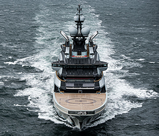 Opus yacht by Lürssen sea trials