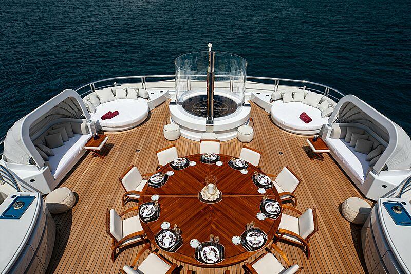 Valerie yacht deck