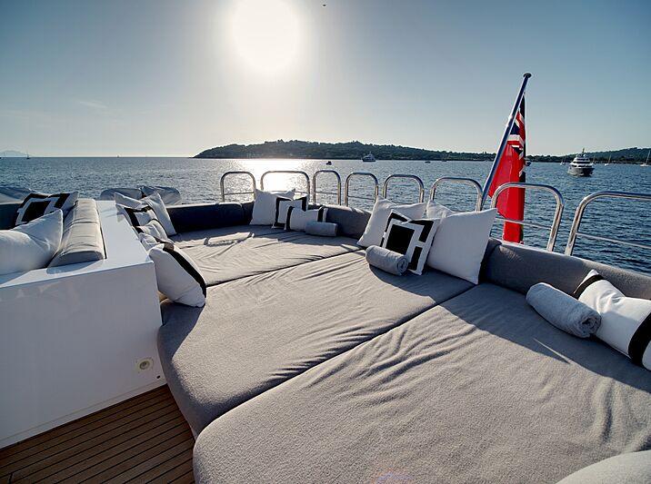 M yacht deck