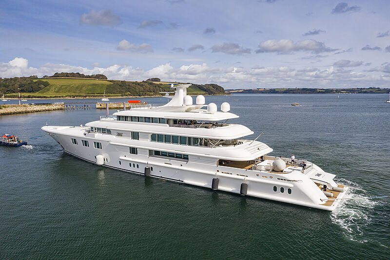 Lady E yacht launch