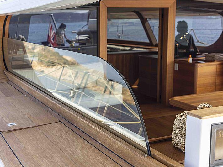 Canova yacht exterior detail