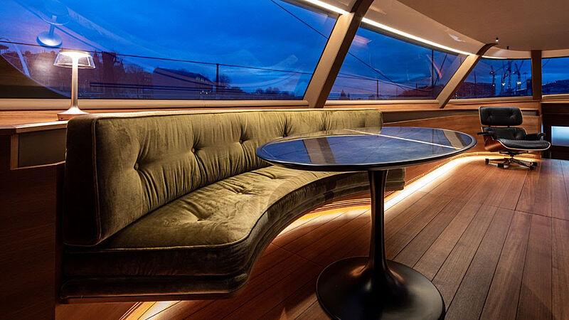 Canova yacht saloon