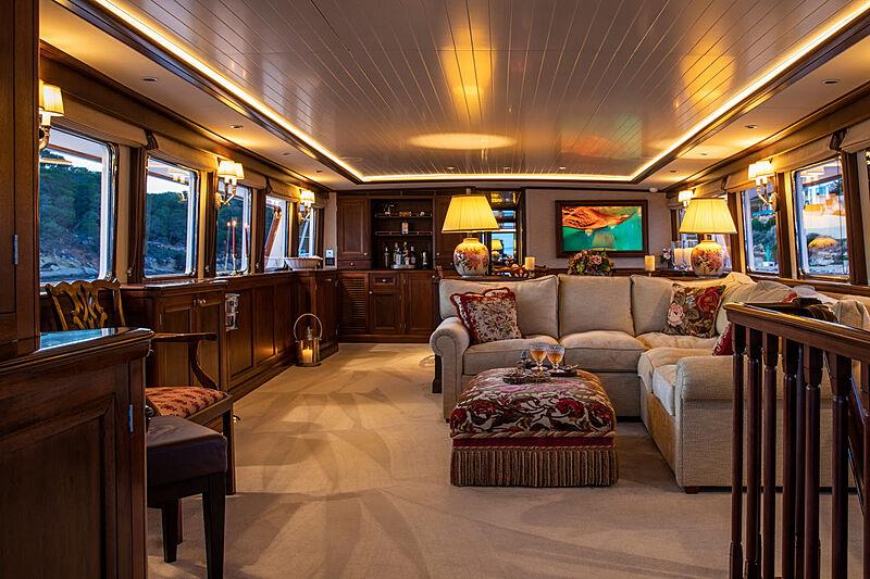 Odyssey III yacht saloon