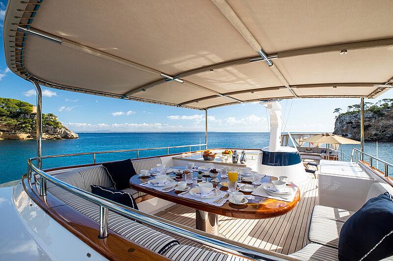Odyssey III yacht sundeck