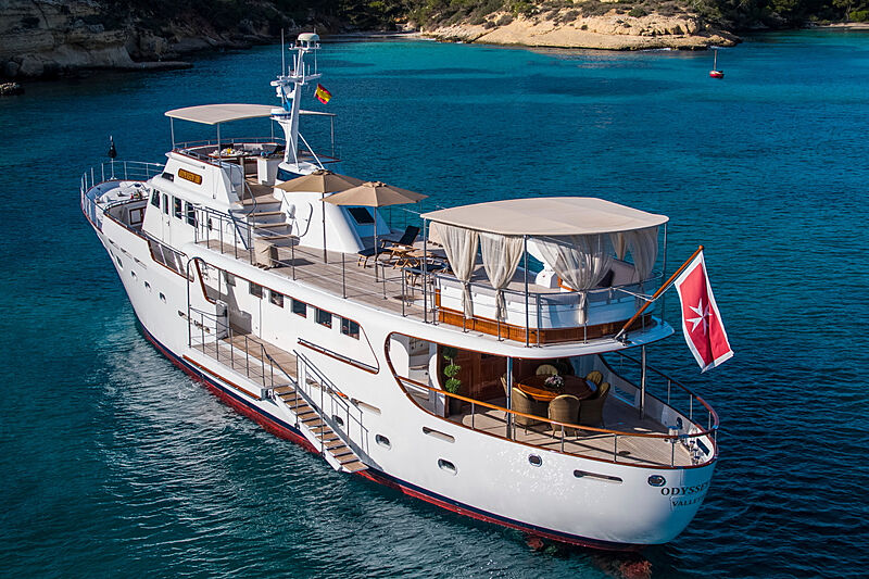 Odyssey III yacht anchored
