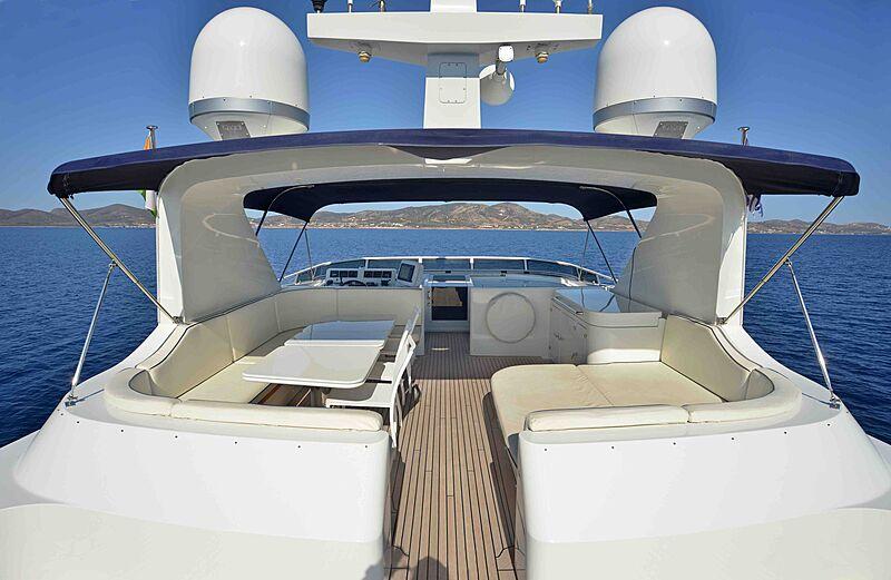 Prana yacht deck