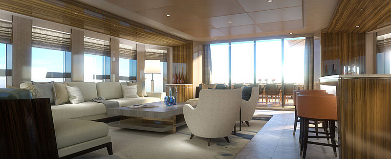 Project Pollux yacht interior design