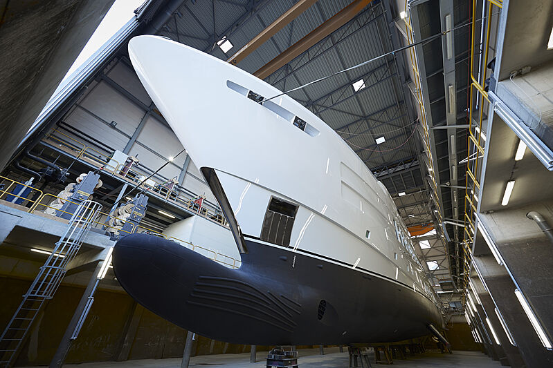 Heesen Project Pollux yacht launch in Oss