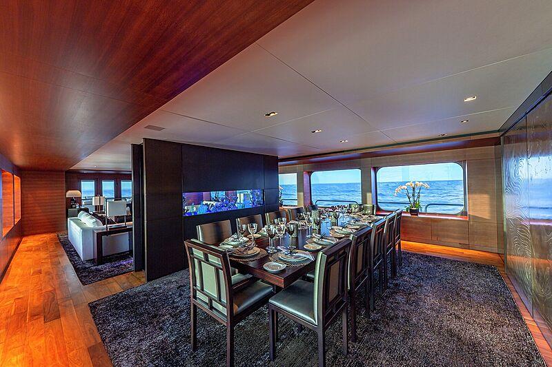 Odessa yacht dining