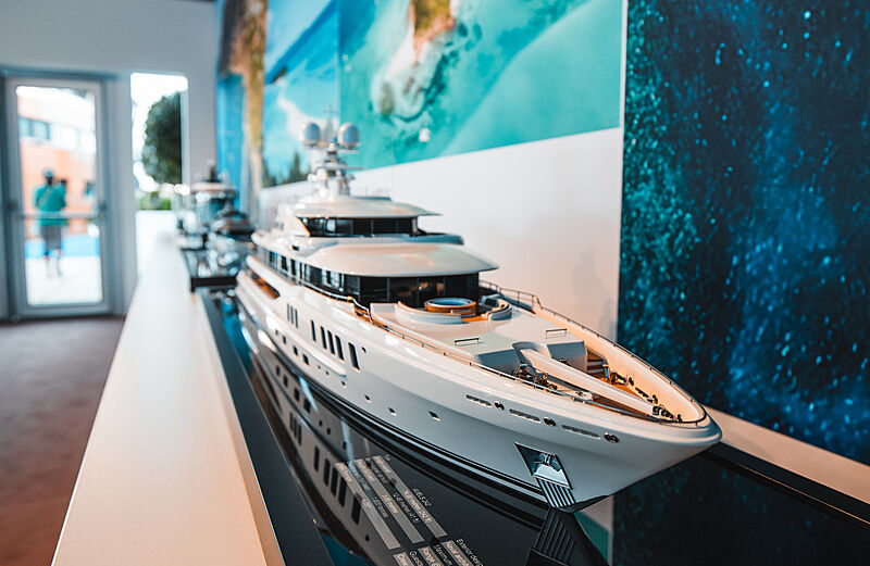 Amels Limited Edition 242 yacht model at Damen Private View event 2020