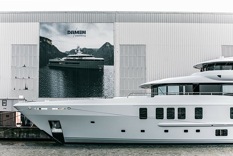 Synthesis yacht at Damen Private View Event 2020