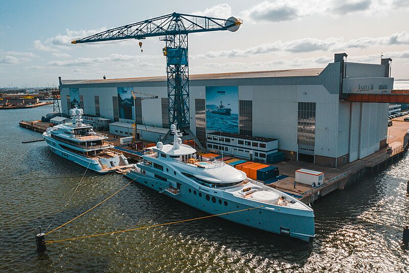 Stardust and Synthesis yachts at Damen Private View Event 2020