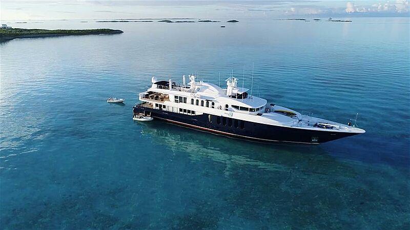She's A 10 yacht anchored