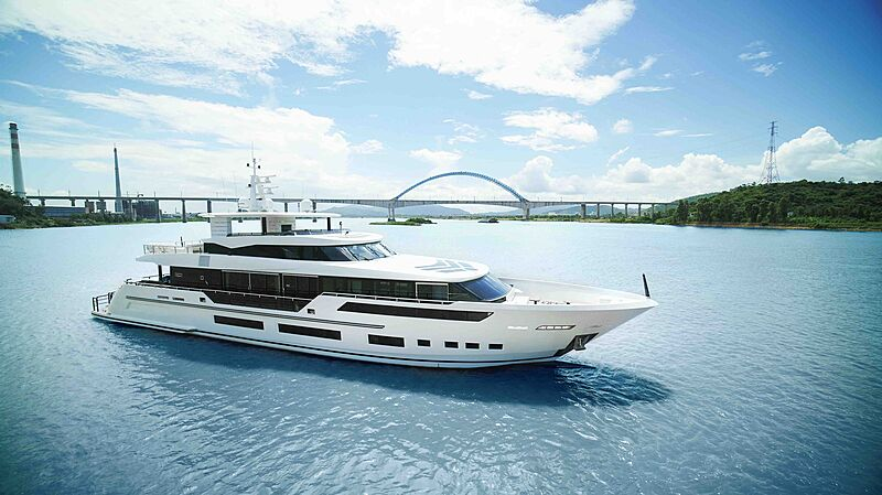 Heysea Asteria 126/1 yacht cruising