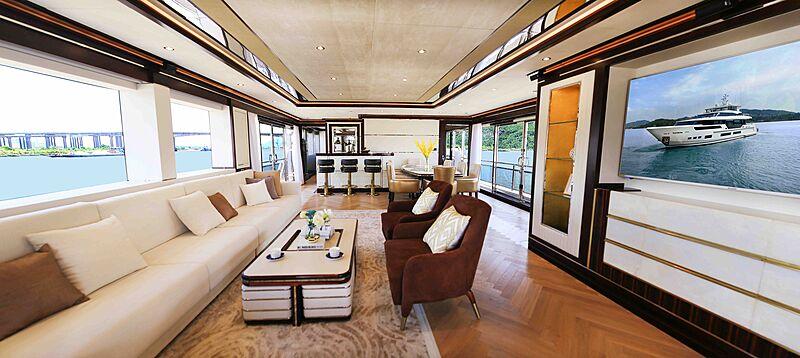 Heysea Asteria 126/1 yacht saloon