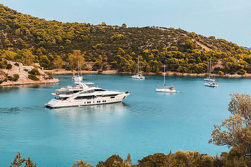 The 42m motor yacht Legasea in Poros