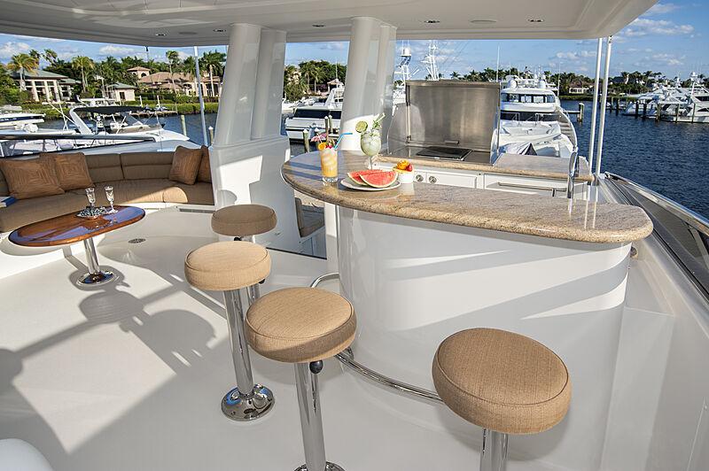 Wild Kingdom yacht sundeck