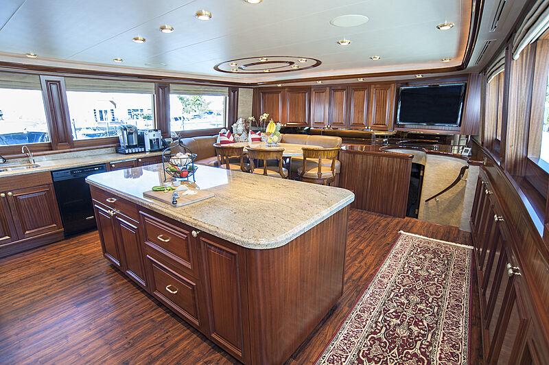 Wild Kingdom yacht galley