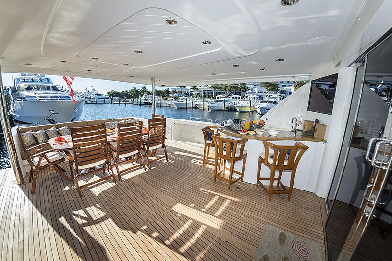 Wild Kingdom yacht aft deck