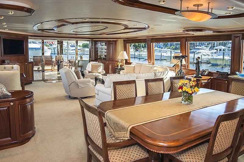 Wild Kingdom yacht saloon
