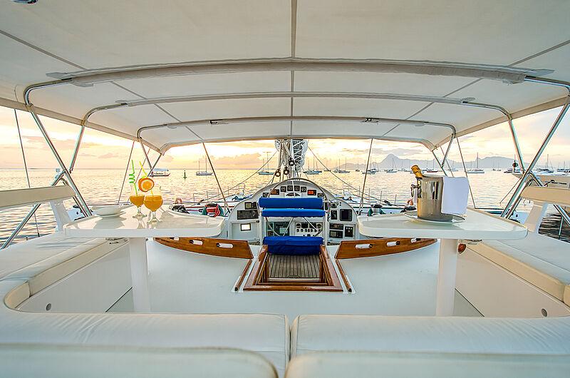 Douce France yacht cockpit