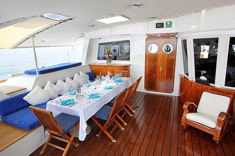 Douce France yacht deck