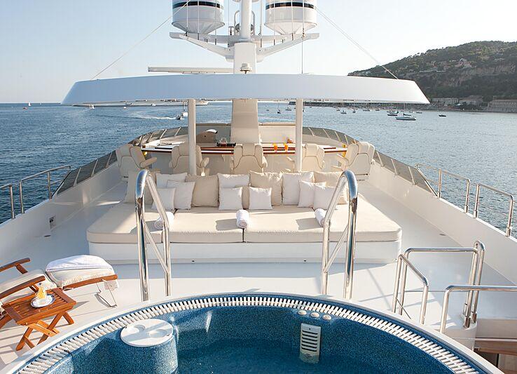 Azzurra II yacht deck