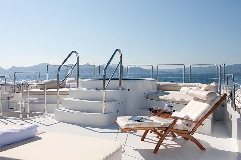 Azzurra II yacht pool