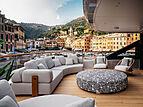 Rebeca yacht deck in Portofino