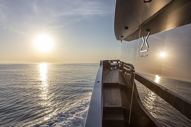 Haze yacht exterior detail