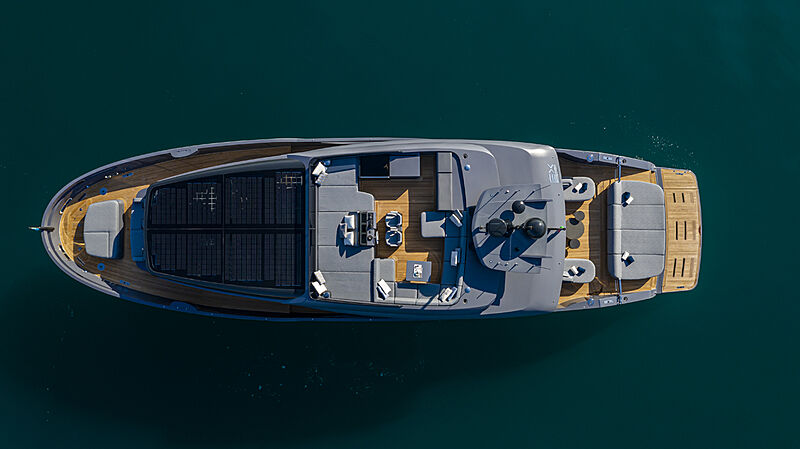 Haze yacht anchored