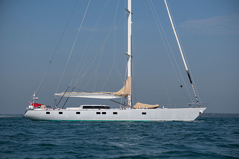 Lunar Mist yacht anchored